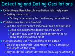 detecting and dating oscillations