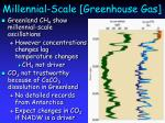 millennial scale greenhouse gas