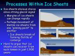 processes within ice sheets