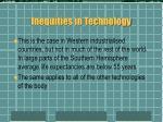 inequities in technology