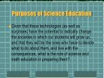 purposes of science education