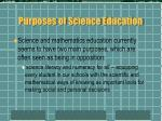 purposes of science education14