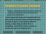 purposes of science education15
