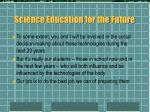 science education for the future
