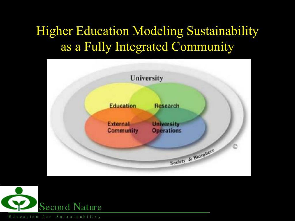 Higher Education Modeling Sustainability