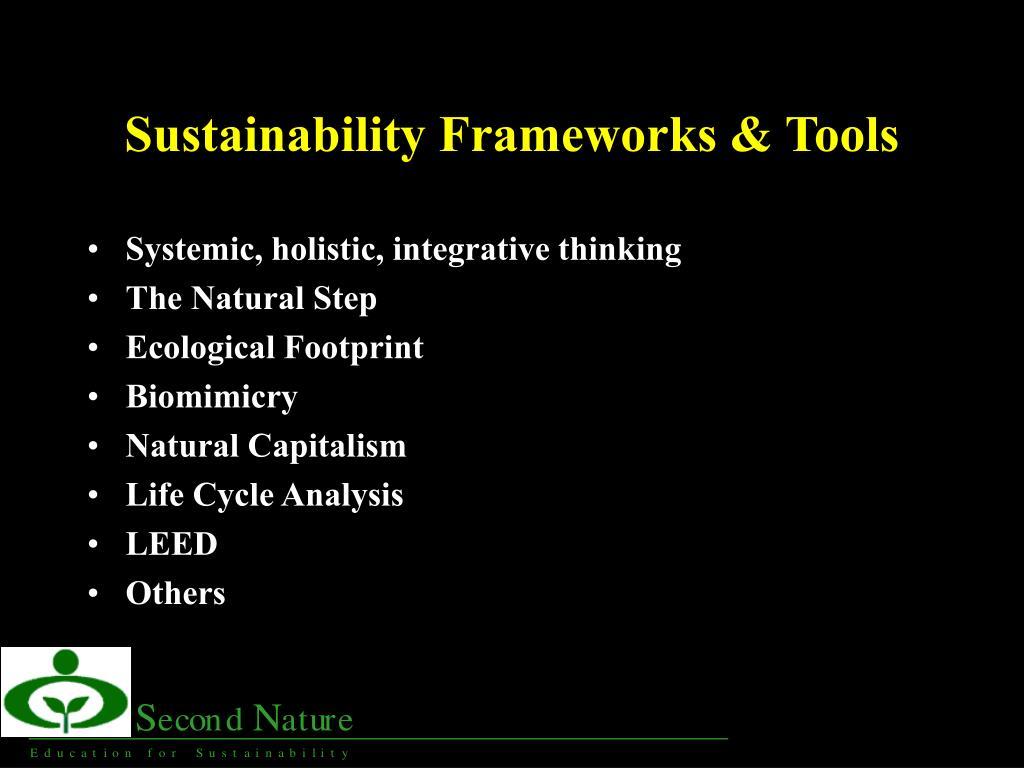 Sustainability Frameworks & Tools