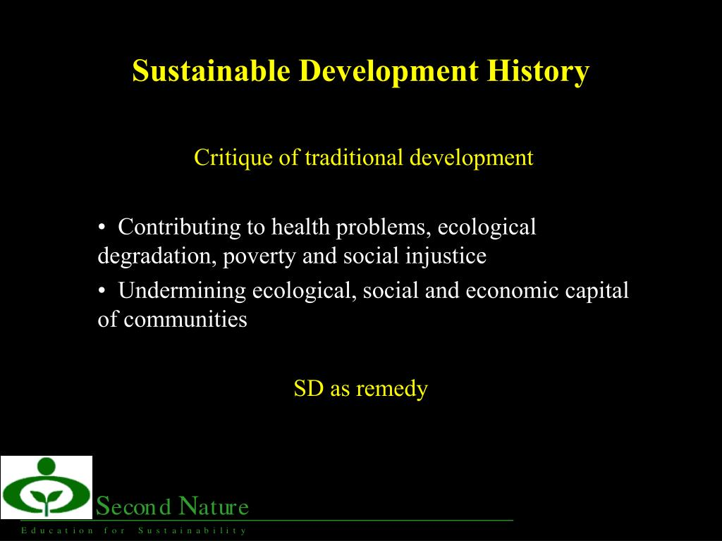 sustainable development history l.