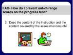 faq how do i prevent out of range scores on the progress test15