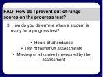 faq how do i prevent out of range scores on the progress test16