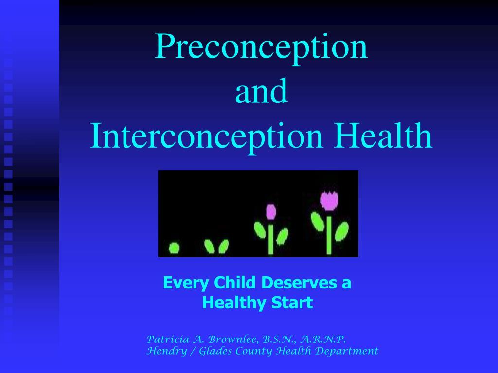 preconception and interconception health l.