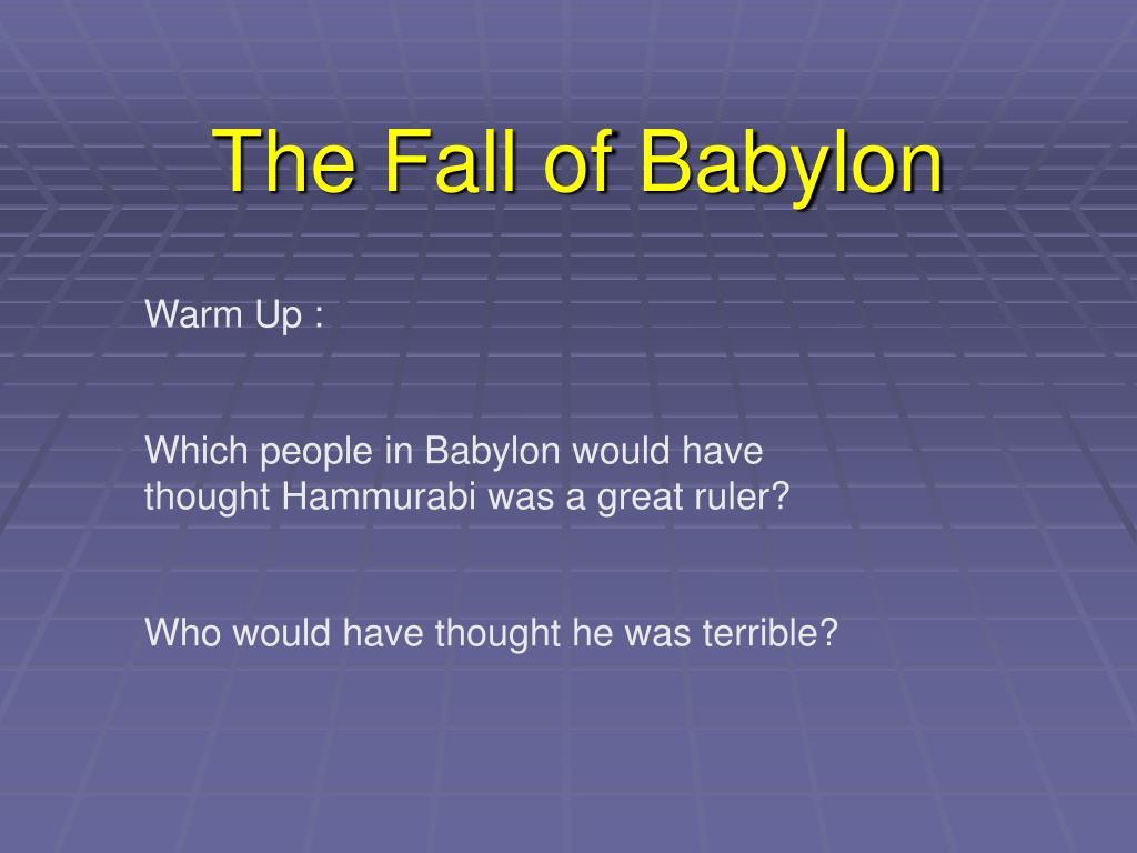 the fall of babylon l.