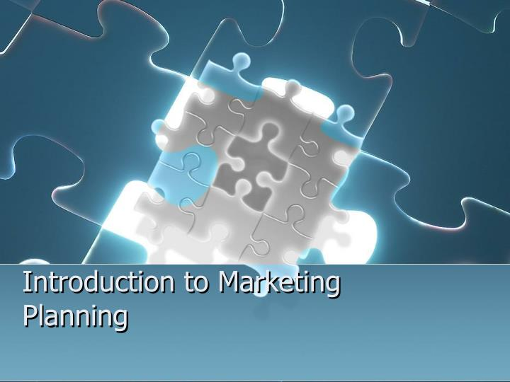 introduction to marketing planning n.