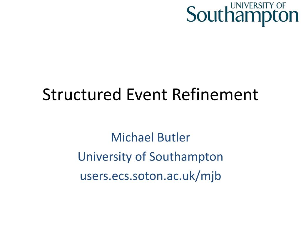 structured event refinement l.