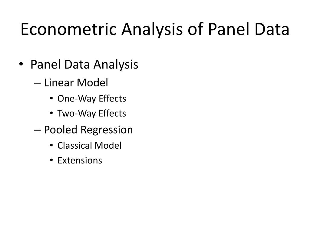 econometric analysis of panel data l.