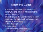 mnemonic codes