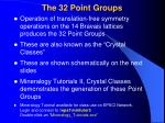 the 32 point groups