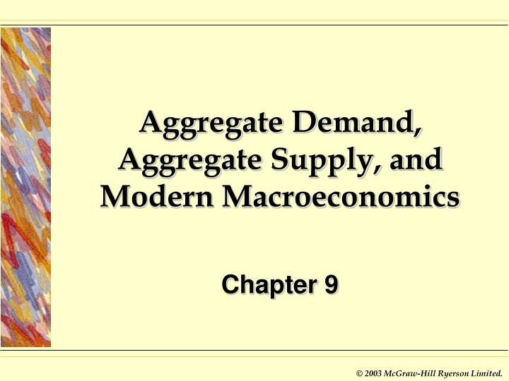 aggregate demand aggregate supply and modern macroeconomics n.