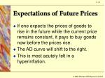 expectations of future prices