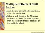 multiplier effects of shift factors