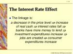 the interest rate effect1