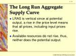 the long run aggregate supply curve1