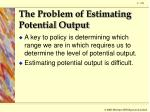 the problem of estimating potential output