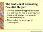 the problem of estimating potential output1
