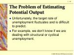 the problem of estimating potential output3