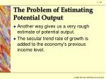 the problem of estimating potential output4