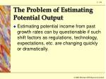 the problem of estimating potential output5
