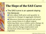 the slope of the sas curve