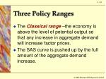 three policy ranges4