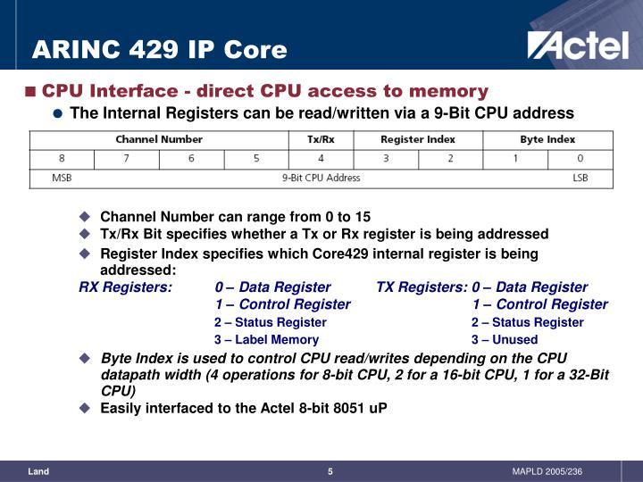 PPT - ARINC 429 with a Host Processor on an FPGA ...