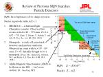 review of previous sqn searches particle detectors