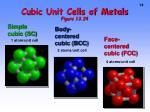 cubic unit cells of metals figure 13 24