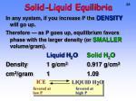 solid liquid equilibria