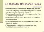 2 5 rules for resonance forms
