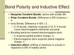 bond polarity and inductive effect