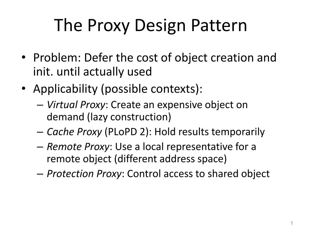 the proxy design pattern l.