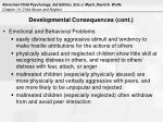 developmental consequences cont18