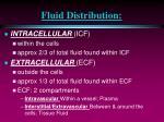 fluid distribution