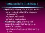 intravenous iv therapy