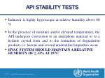 api stability tests