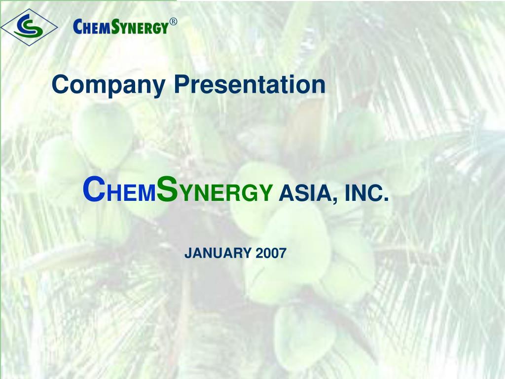 company presentation l.