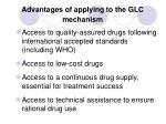 advantages of applying to the glc mechanism