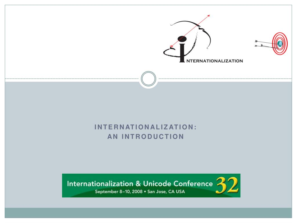 internationalization an introduction l.