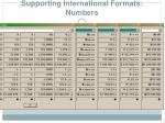 supporting international formats numbers