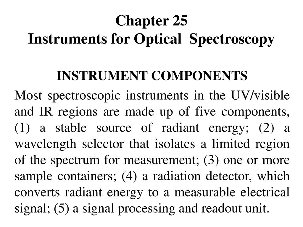 chapter 25 instruments for optical spectroscopy l.
