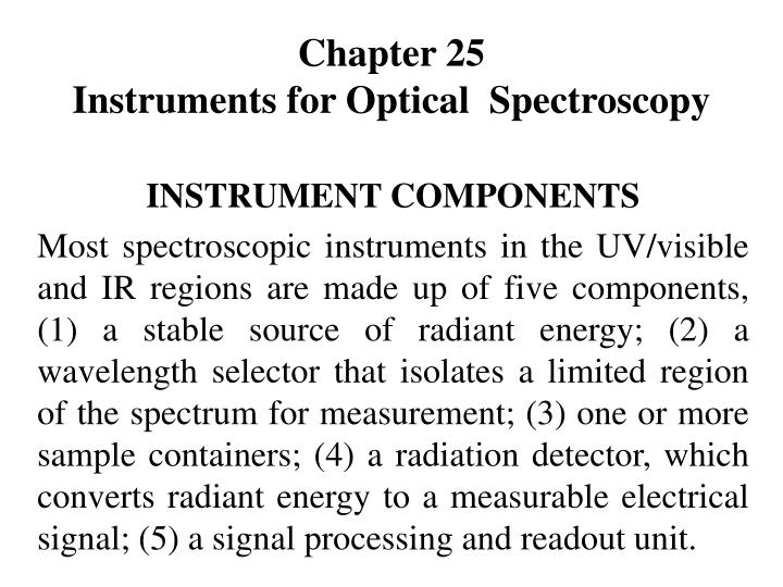 chapter 25 instruments for optical spectroscopy n.