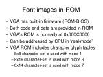 font images in rom